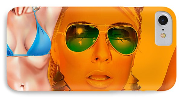 IPhone Case featuring the digital art Jacqui by Brian Gibbs