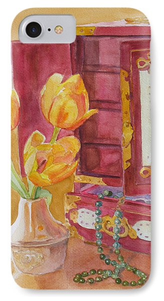 Jade And Tulips II IPhone Case by Jenny Armitage