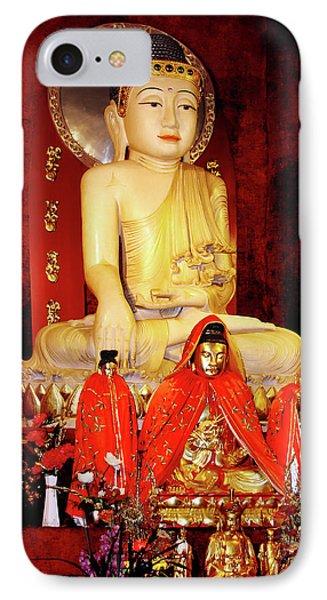 Jade Buddha Jing'an Temple Shanghai Phone Case by Christine Till