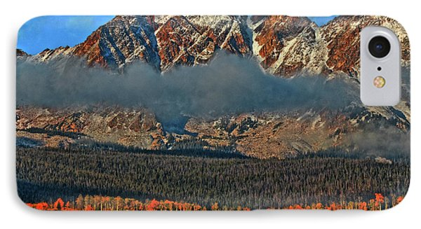 IPhone Case featuring the photograph Jagged Peaks Fall by Scott Mahon