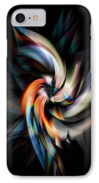 Jagged Twirl IPhone Case by Cherie Duran