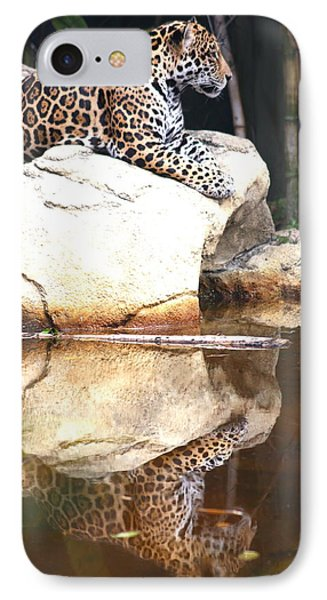 Jaguar At Rest IPhone Case by Diane Merkle