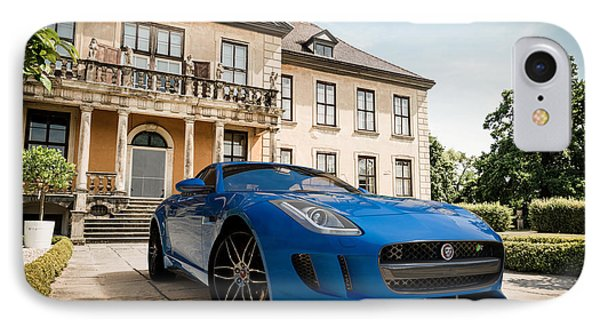 Jaguar F-type - Blue - Villa IPhone Case