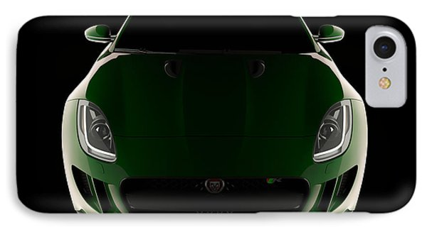Jaguar F-type - Front View IPhone Case
