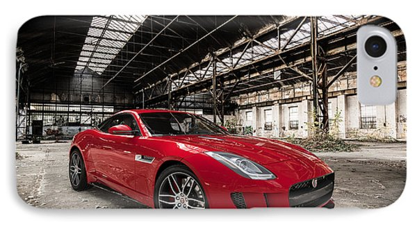 Jaguar F-type - Red - Front View IPhone Case