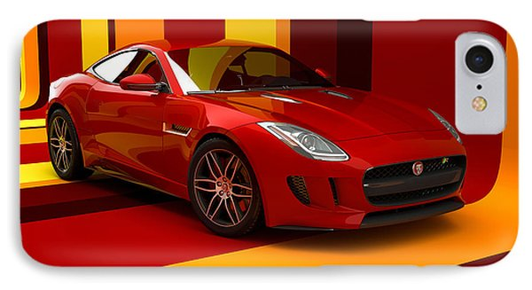Jaguar F-type - Red Retro IPhone Case