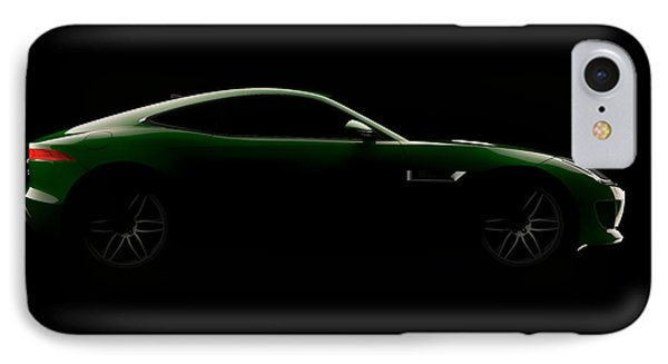 Jaguar F-type - Side View IPhone Case