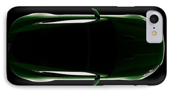 Jaguar F-type - Top View IPhone Case