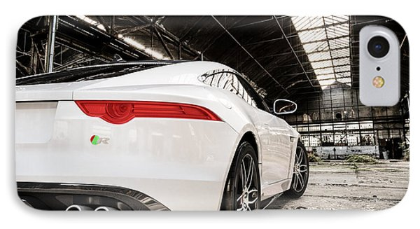 Jaguar F-type - White - Rear Close-up IPhone Case