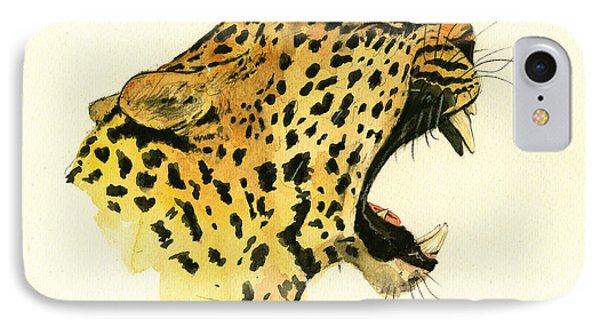 Jaguar Head Painting Watercolor IPhone Case