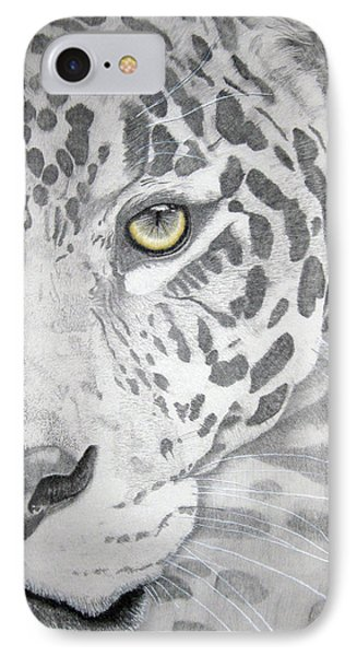 IPhone Case featuring the drawing Jaguar by Mayhem Mediums
