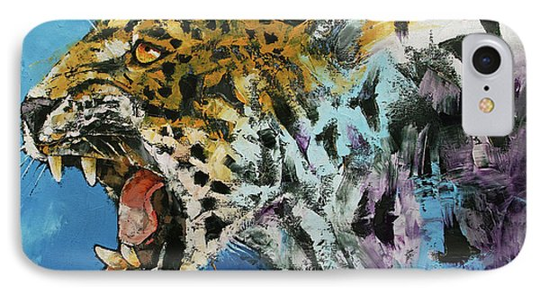 Jaguar IPhone Case by Michael Creese