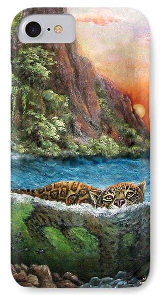 Jaguar Sunset  IPhone Case by Retta Stephenson