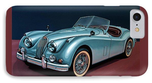 Jaguar Xk140 1954 Painting IPhone Case