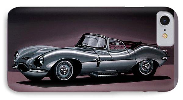 Jaguar Xkss 1957 Painting IPhone 7 Case