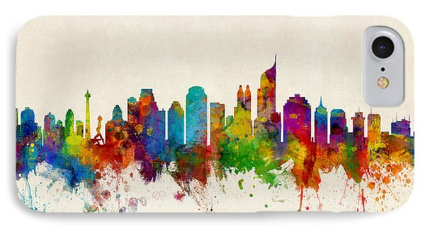 Jakarta Skyline Indonesia Bombay IPhone Case by Michael Tompsett
