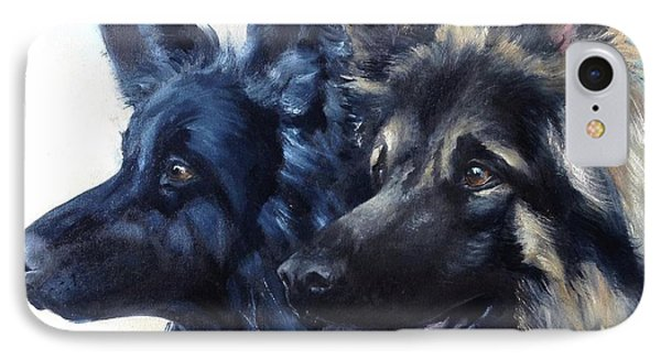 Jake And Shiloh IPhone Case by Diane Daigle