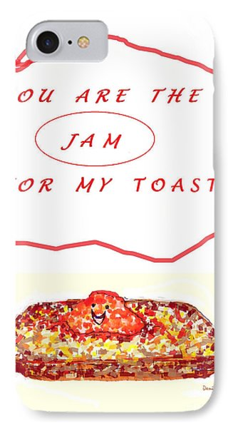 IPhone Case featuring the drawing Jam For My Toast by Denise Fulmer