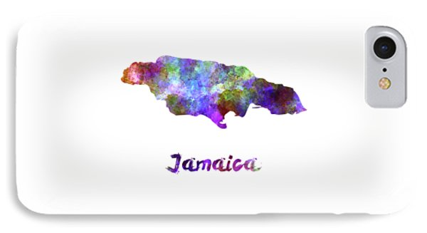 Jamaica In Watercolor IPhone Case by Pablo Romero