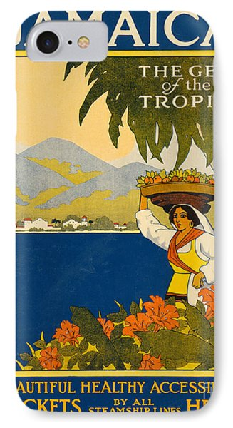 Jamaica  Vintage Travel Poster IPhone Case by American School