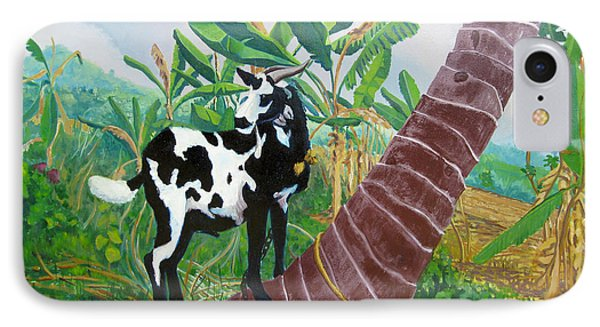 Jamaican Goat In A Tree Phone Case by D T LaVercombe