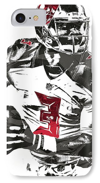 IPhone Case featuring the mixed media Jameis Winston Tampa Bay Buccaneers Pixel Art by Joe Hamilton