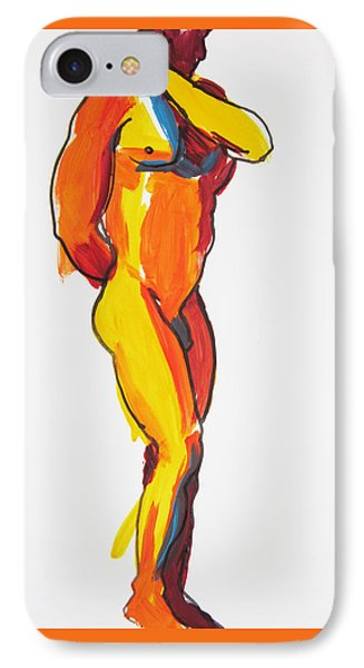 IPhone Case featuring the painting James Classic Pose by Shungaboy X