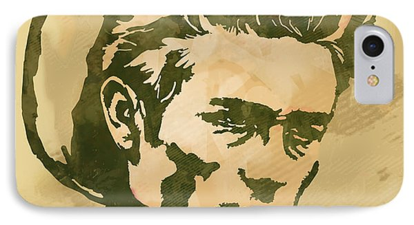James Dean  -  Etching Pop Art Poster IPhone Case