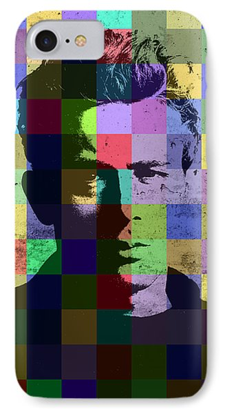 James Dean Actor Hollywood Pop Art Patchwork Portrait Pop Of Color IPhone 7 Case by Design Turnpike