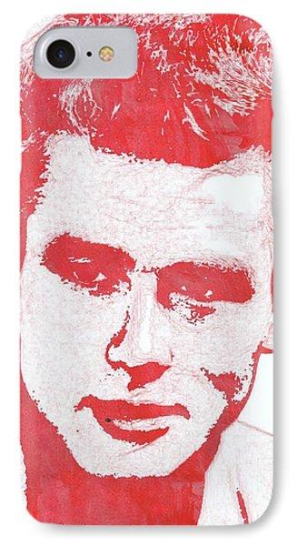 James Dean Pop Art IPhone 7 Case by Mary Bassett