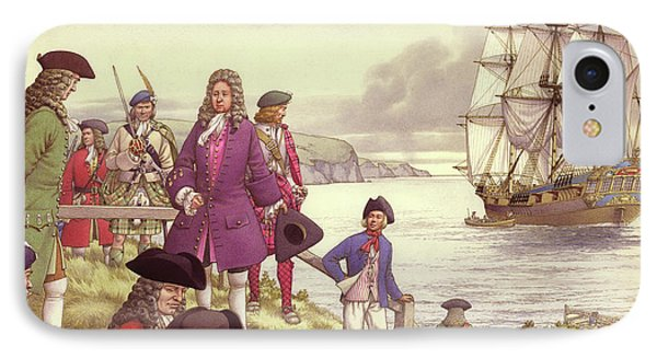 James Edward Stuart, The Old Pretender, Departs For France From Scotland IPhone Case by Pat Nicolle