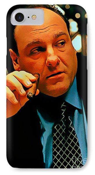James Gandolfini As Tony Soprano IPhone Case by Pd
