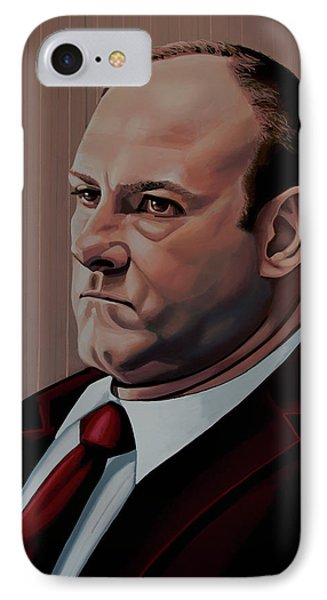 James Gandolfini Painting IPhone Case by Paul Meijering