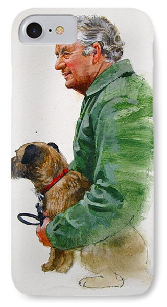 James Herriot And Bodie IPhone Case by Cliff Spohn