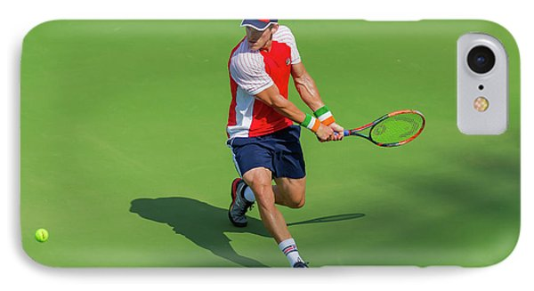 James Mcgee Plays Center Court At The Winston-salem Open IPhone Case