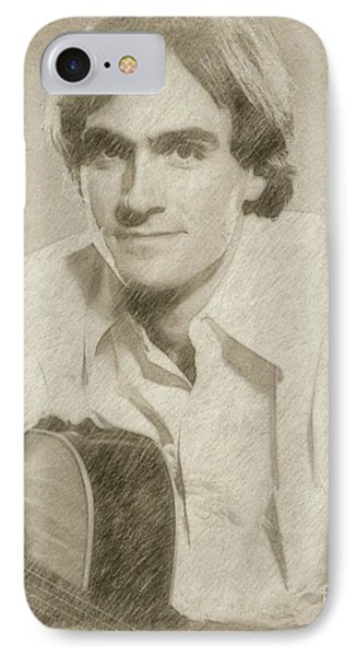 James Taylor Musician IPhone Case by Frank Falcon