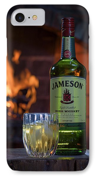 Jameson By The Fire IPhone Case by Rick Berk