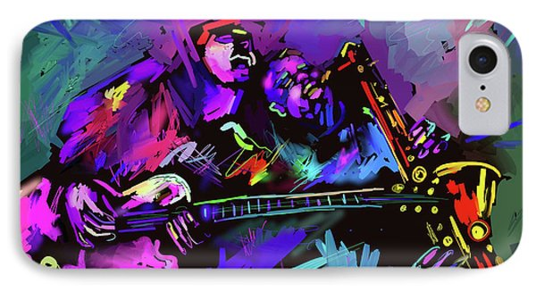 IPhone Case featuring the painting Jammin' The Funk by DC Langer