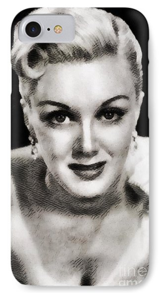 Jan Sterling, Vintage Actress By John Springfield IPhone Case by John Springfield