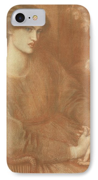 Jane Morris IPhone Case by Dante Gabriel Charles Rossetti