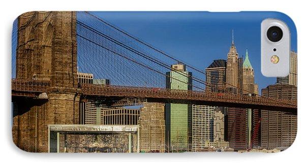 Jane's Carousel Brooklyn Bridge Nyc IPhone Case by Susan Candelario