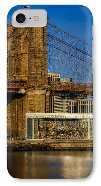 Jane's Carousel Brooklyn Bridge IPhone Case by Susan Candelario