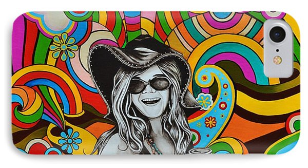 IPhone Case featuring the painting Janis In Wonderland by Joseph Sonday