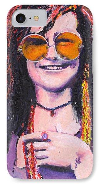 Janis Joplin 2 IPhone Case by Eric Dee
