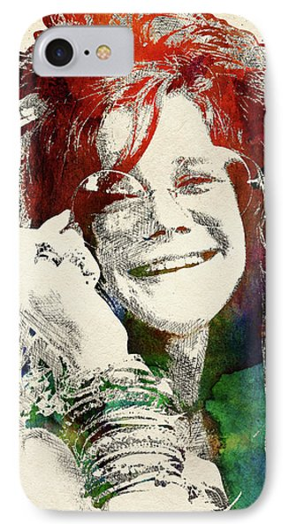 Janis Joplin IPhone Case by Mihaela Pater