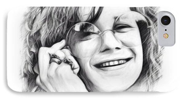 Janis Joplin Sketch IPhone Case