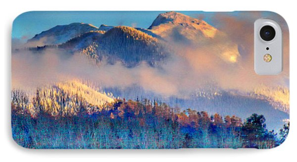 January Evening Truchas Peak IPhone Case by Anastasia Savage Ealy