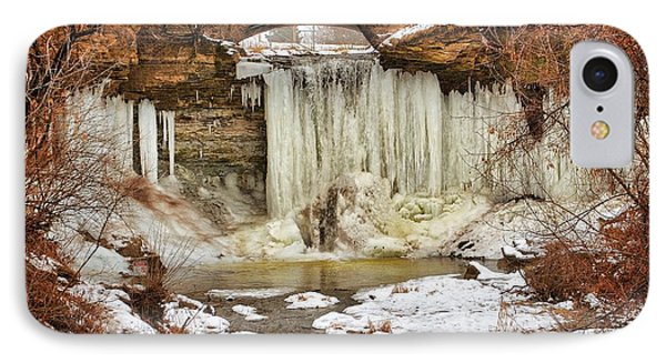 January Melt At Wequiock Falls  IPhone Case