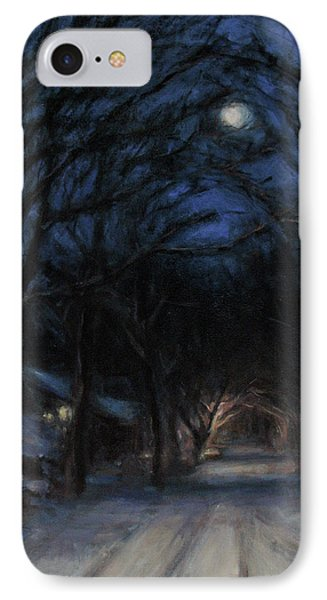 January Moon Phone Case by Sarah Yuster