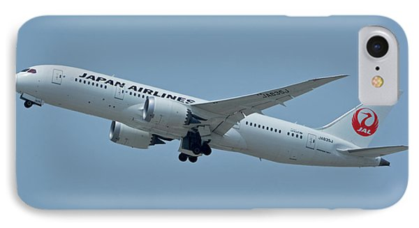 IPhone Case featuring the photograph Japan Airlines Boeing 787-8 Ja835j Los Angeles International Airport May 3 2016 by Brian Lockett